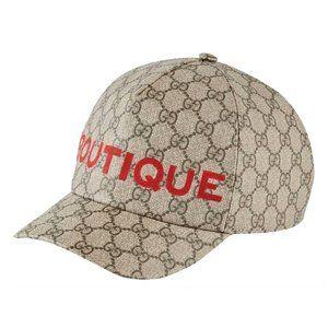 Gucci Gg Supreme Canvas Boutique Print Unisex Hat